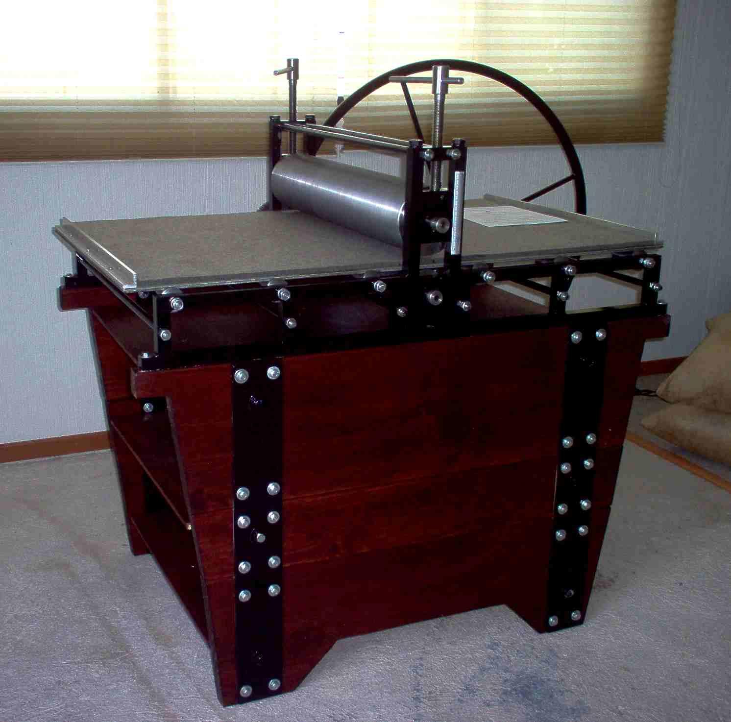 Catalogo torculos para grabado huecograbado calcografia - Rinconeras de madera ...