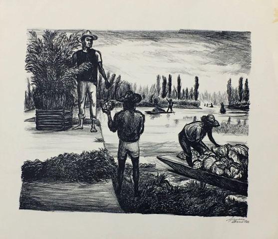 """Arturo Garcia Bustos """"Campesinos de Tlahuac"""""""