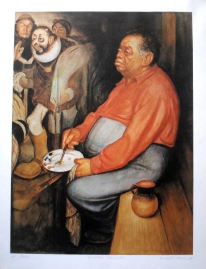 """Rafael Freyre """"Diego Rivera pintando a Hernán Cortes"""""""