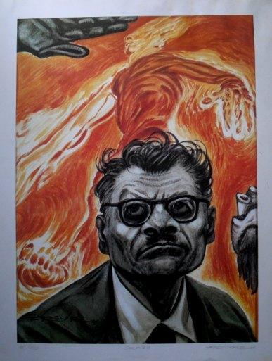 """Rafael Freyre """"Jose Clemente Orozco con su fantasia Hombre de Fuego"""""""