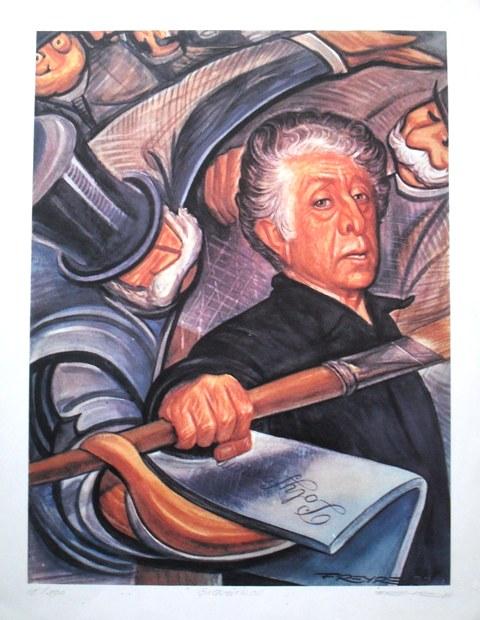 """Rafael Freyre """"David Alfaro Siqueiros pintando el Polyforum"""""""